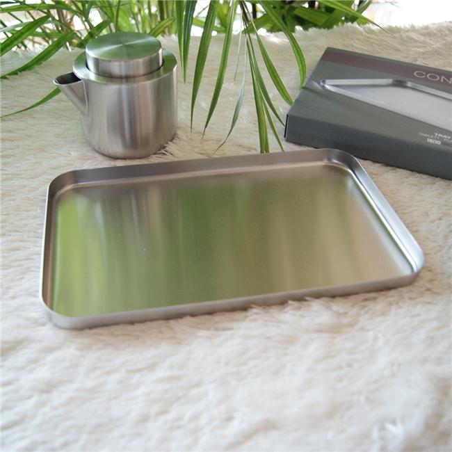 20143 CONTAS tray small / ドイツZACK社のステンレス製モダンデザインのトレイ