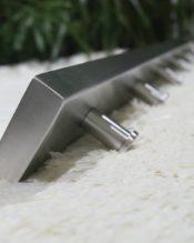 18/10ステンレス製 75x5x5cm 965g(穴の中心部の距離62.5cm、両端から7.25cm)