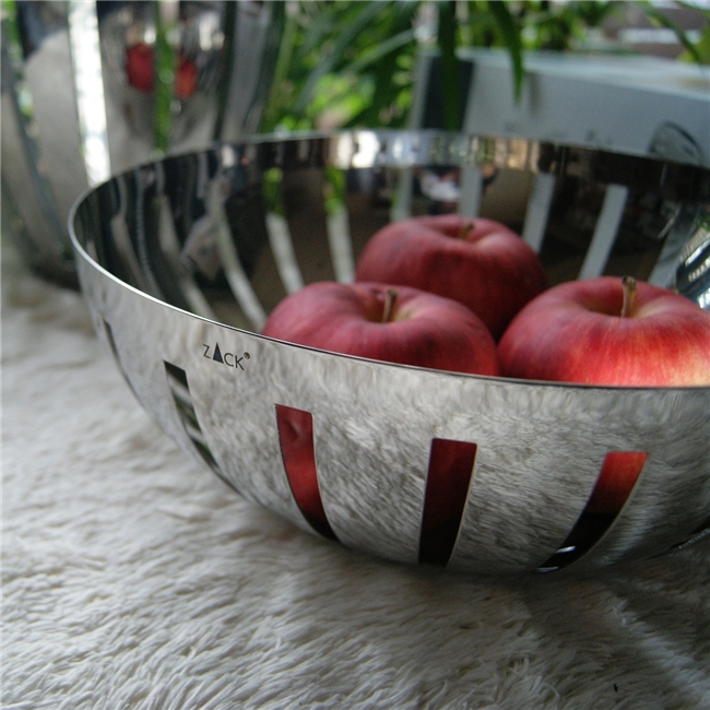 30712 VITOR fruit bowl, glossy | ドイツZACK社のシンプルモダンなステンレス製フルーツボウル