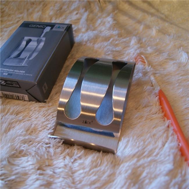40119 GENIO toothbrush holder / ドイツZACK社のステンレス製歯ブラシホルダー壁付けタイプ
