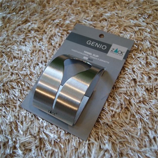 40121 GENIO towel clip / ドイツZACK社のステンレス製タオルクリップ-2個セット