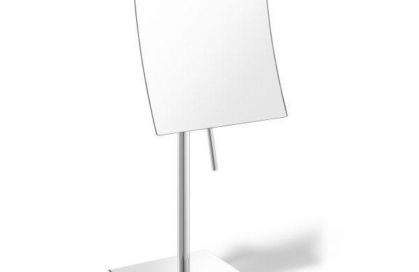 2015年秋にパリのメゾン・エ・オブジェで発表された新作のコスメティックミラー(5倍拡大鏡)です。 18/10ステンレス製 H33cm (鏡部)15.5x 15.5cm