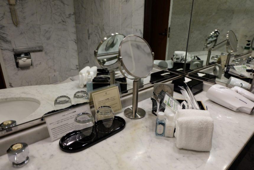 ステンレス製 スタンドミラー ホテルグランヴィア京都 バスルーム アメニティ