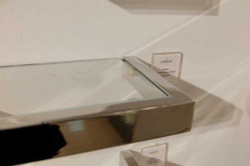 ステンレス製ガラスシェルフ