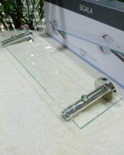 2016年2月にフランクフルト・アンビエンテで発表された新作のバスルームシェルフです。 18/10ステンレス製 W50cm H6cm D12cm